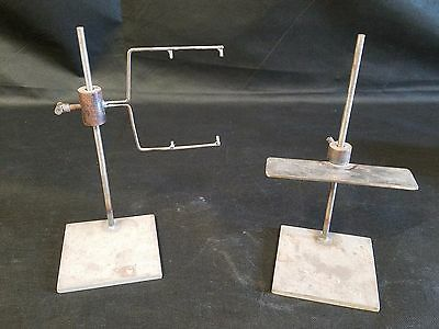 2 Vintage Custom Made Metal Lab / Chemistry Stands - Steampunk