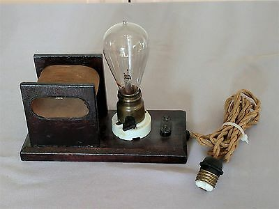 Antique WATCH DEMAGNETIZER  / Vintage Bulb is included / early 20th Century