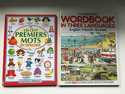 Bundle 2 Spanish - French Picture Dictionary Word Books