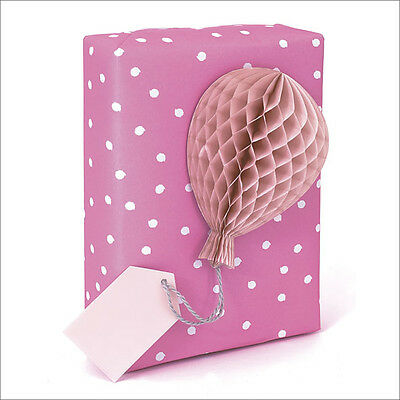 Honeycomb Gift Tag Individual Pink Present Topper Collage Gift Dressings