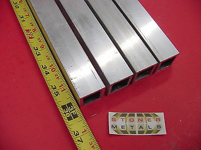 "4 Pieces 1""x 1""x 1/8"" Wall x 36"" Long ALUMINUM SQUARE TUBE 6063 T52 1"" SQ x.125"""