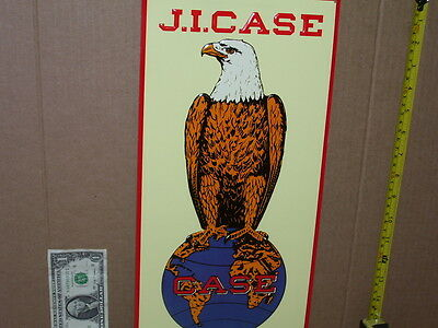 J. I. CASE - Eagle & World Logo --- Racine, Wis. ----- OLD SIGN --- Dated...'92.