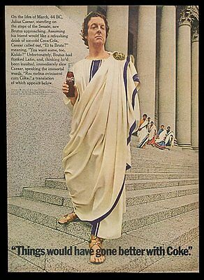 1969 Coke Julius Caesar photo Coca-Cola vintage print ad
