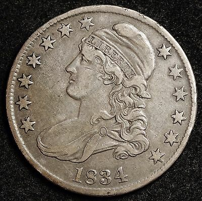 1834 Bust Half.  About X.F.  106777
