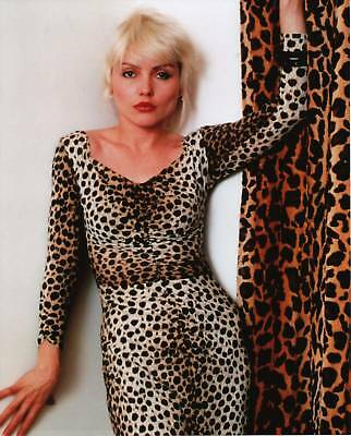Debbie Deborah Harry Blondie Leopard Print 8x10 Photo