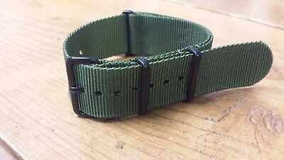 Clockwork Stainless Steel Premium Nato Nylon Replacement Watch Strap Band