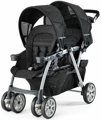 Chicco Cortina Together Twin Baby Double Stroller Ombara NEW