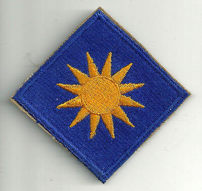 Ww2 Era Us Army 40Th Infantry Division Cut Edge Snow Back Insignia Patch Wwii