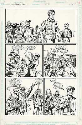 Green Arrow ORIGINAL ART PAGE 6 Frank Springer Pencils, Pablo Marcos Inks 1992