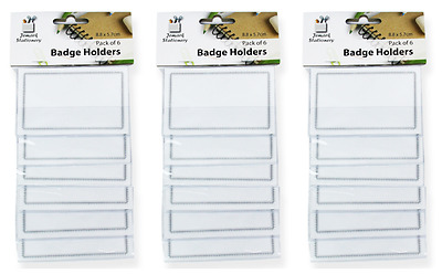 Set Of 18 *name Tag - Badge Holders* With Clips And Inserts
