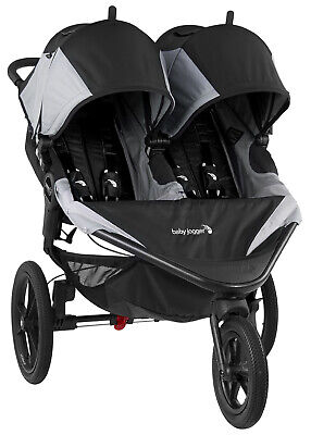 Baby Jogger Summit X3 Twin Double All Terrain Jogging Stroller Black / Gray NEW