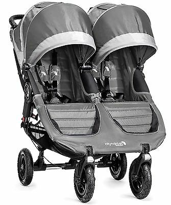 Baby Jogger City Mini GT Double Twin All Terrain Stroller Steel Gray NEW