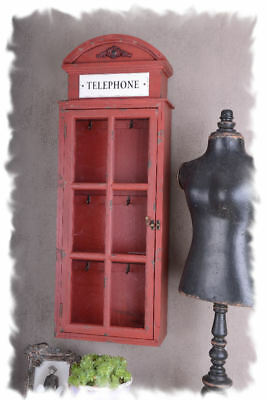 Wall Cabinet Keyboard Key Cabinet English Phone Booth Vintage