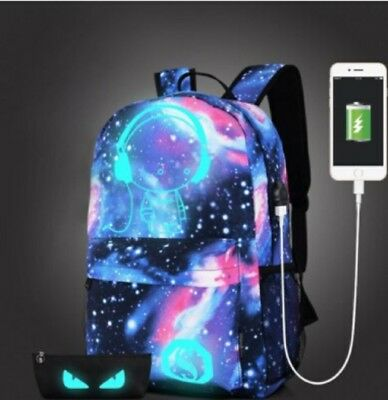 US Fashion Anti-Theft Backpack School Unisex Travel Bag With USB Charging Port