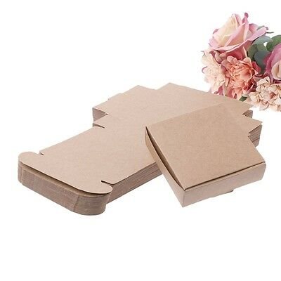 50Pcs Brown Kraft Paper Box for Party Gift Wedding Favors Candy Jewelry Packing
