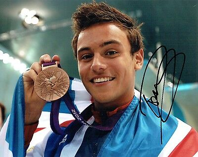 Tom DALEY Autograph Signed Photo 3 AFTAL COA Diving Olympic Gold Medal Winner