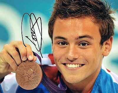 Tom DALEY Autograph Signed Photo 4 AFTAL COA Diving Olympic Gold Medal Winner