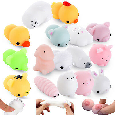 Kawaii Animal Squishy Squeeze Relieve Stress Slow Soft Rising Kid Toy Decor Gift
