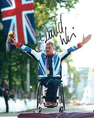 David WEIR Paralympic Wheelchair Gold Medal Autograph Signed Photo AFTAL COA