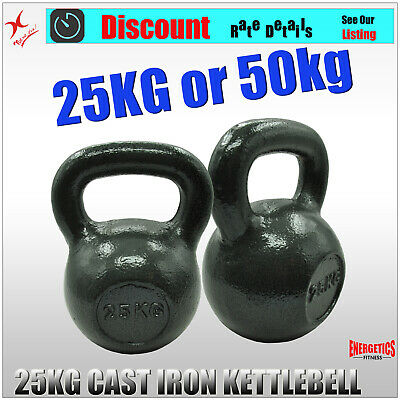 25KG x 1 or 25KG x 2 KETTLEBELL WEIGHT - CAST IRON HOME GYM TRAINING KETTLE BELL