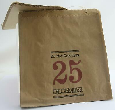 East of India Kraft Brown paper bags Do Not Open Until 25 December Christmas