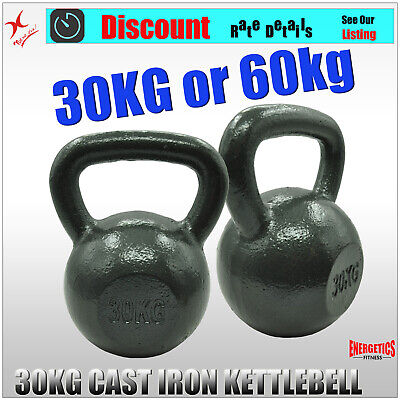 30KG x 1 or 30KG x 2 KETTLEBELL WEIGHT - CAST IRON HOME GYM TRAINING KETTLE BELL