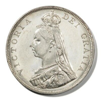 Great Britain Victoria Double Florin 1888 About Uncirculated