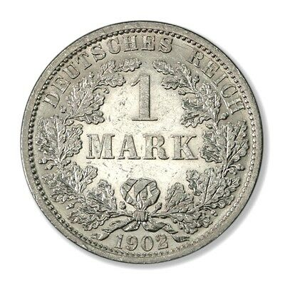 German Empire Imperial Coinage 1 Mark 1902 A Silver Coin UNC -KM-14