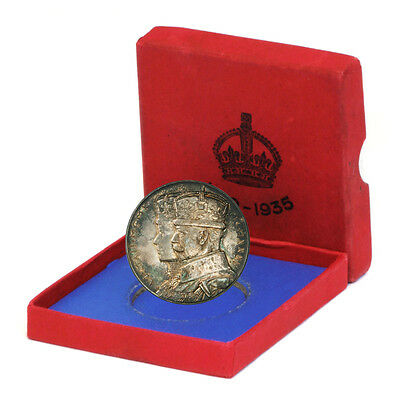 GBR Silver Jubilee George V/Queen Mary 1935 Sterling Medal w/Box