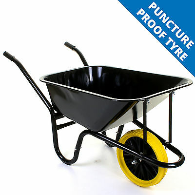 Wheelbarrow Garden Wheel Barrow Extra Large 150KG Puncture Proof Tyre 85L Cart