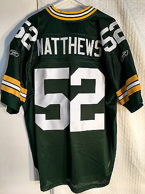 REEBOK AUTHENTIC ONFIELD NFL Jersey GREEN BAY Packers Clay ...