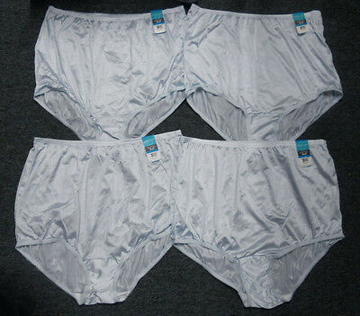 4 prs VANITY FAIR Brief PERFECTLY YOURS RAVISSANT 15712 Panty SOFT BLUE 9 / 2XL