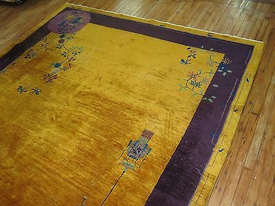 Antique Decorative Chinese Art Deco Rug Size 8'2''x9'6''
