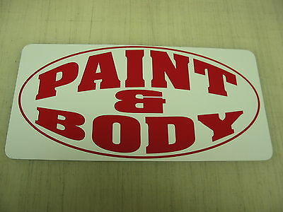PAINT & BODY Metal Sign Motorcycle Hot Rod Car Bike Shop Garage Ford Chevy