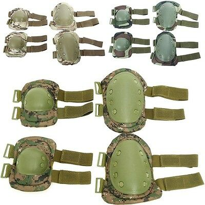 New Elbow Knee Protector Set Wearable Military Combat Sport Kneepad Sturdy Shell