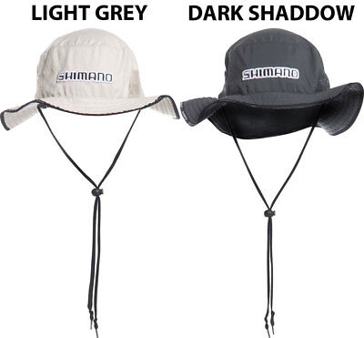 Shimano Point Plugger Wide Brim Hat in Colour - Darkside, Colour - Light Grey