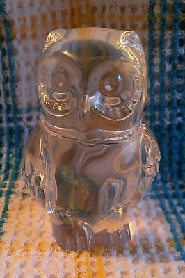 Nice lead crystal owl it is 3 1/2 inches tall ..no chips