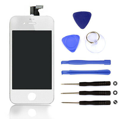 White LCD Replacement Digitizer Display Screen Assembly Tools For iPhone 4s New