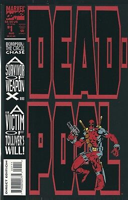 DEADPOOL: CIRCLE CHASE #1 of 4 (1993) JOE MADUREIRA MARVEL COMICS V/F+