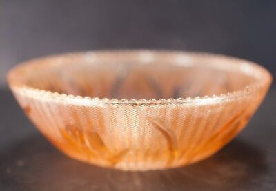 Jeannette Glass Iris and Herringbone Iridescent Beaded Berry Bowl