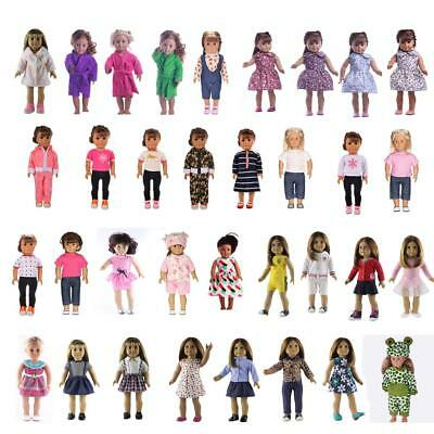 Fashion Doll Clothes For 18 inch American Girl Our Generation Dolls Dress Outfit
