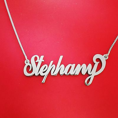 Sterling silver chain, name on necklace, neckless with name name necklace custom