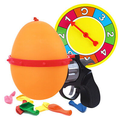 Creative Russian Roulette Model Balloon Gun Party Tricky Adult Kids Fun Game