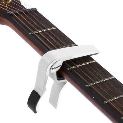 White Tune Quick Change Single-handed Guitar Capo for Acoustic 6-string Guitars