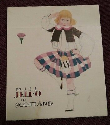 1920's Miss JELL-O Visits SCOTLAND Metamorphic Advertising Card ROSE O'NEILL