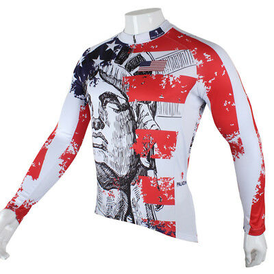 New Men Team Cycling Jersey Long Sleeve Tops Bicycle Racing Clothing Sports Wear