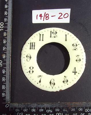 14/8-20   Enamel french clock chapter ring clock dial 87 od