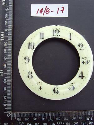 14/8-17   Enamel french clock chapter ring clock dial 101 od