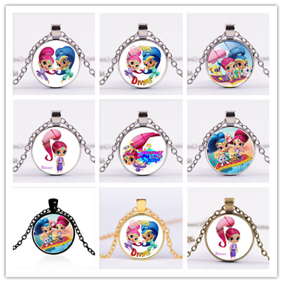 Shimmer and Shine Necklace Pendant Cartoon Kids Jewelry Toys Children Play Gifts
