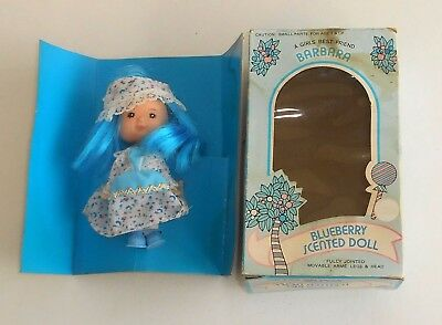 1980's Vintage Barbara Scented Dolls - BLUEBERRY - Scented Doll - Boxed MIB MOC